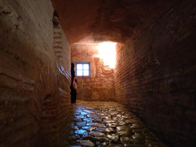 Going to the upper level of Hagia Sophia
