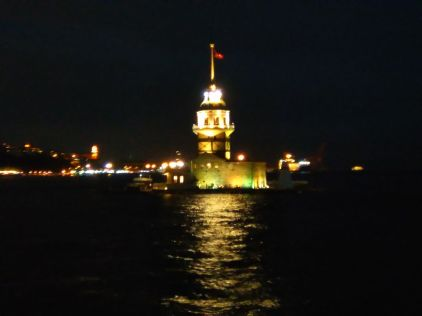 Maiden's Tower at night, Istanbul (2017); Photo Courtesy: Tanveer Hasan